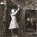 Cutting a sunbeam, 1886. Photograph by Adam Diston.