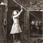 Cutting a sunbeam, 1886. Photograph by Adam Diston.